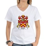Jamin Family Crest Women's V-Neck T-Shirt