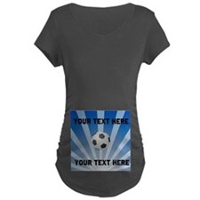 Personalized Soccer Maternity Dark T-Shirt