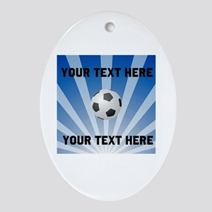 Personalized Soccer Ornament (Oval)
