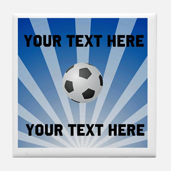 Personalized Soccer Tile Coaster