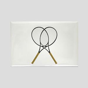 Tennis Rackets Sports Design Magnets