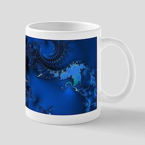 Blue Glory Fractal Mugs