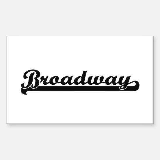 Broadway Classic Retro Design Decal