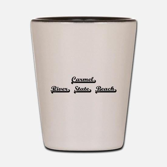 Carmel River State Beach Classic Retro Shot Glass