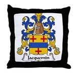 Jacquemin Family Crest Throw Pillow