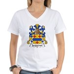 Jacquemin Family Crest Women's V-Neck T-Shirt