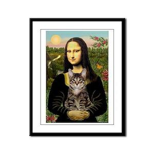 Mona's Tiger Cat Framed Panel Print