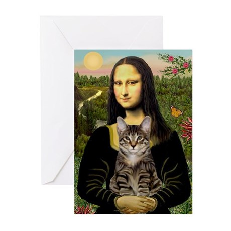 Mona's Tiger Cat Greeting Cards (Pk of 20)