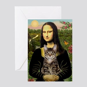 Mona's Tiger Cat Greeting Card