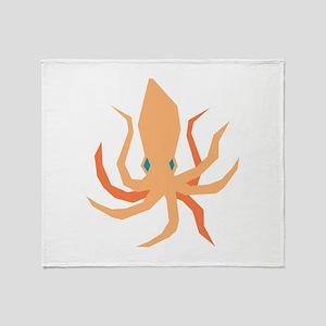 Squid Throw Blanket