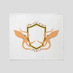 Squid Shield Sigil Throw Blanket