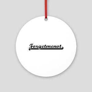 Forgetmenot Classic Retro Design Ornament (Round)
