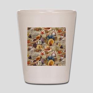 Seashells And Starfish Shot Glass