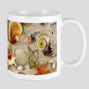 Seashells And Starfish Mugs