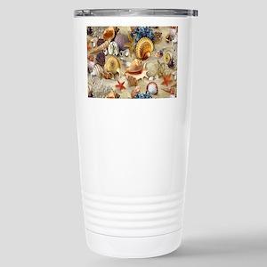 Seashells And Starfish Stainless Steel Travel Mug
