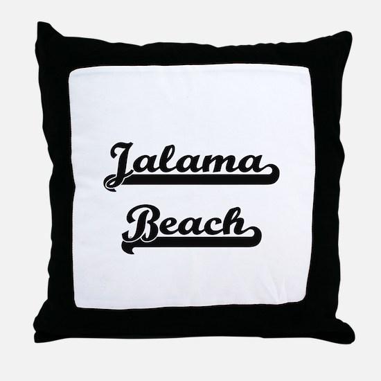 Jalama Beach Classic Retro Design Throw Pillow