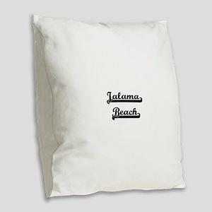 Jalama Beach Classic Retro Des Burlap Throw Pillow