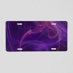 Misty Purple Realm Aluminum License Plate