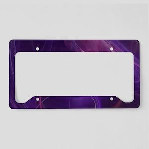 Misty Purple Realm License Plate Holder