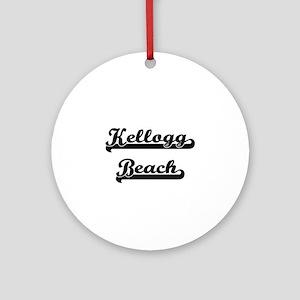 Kellogg Beach Classic Retro Desig Ornament (Round)