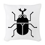 Beetle Woven Throw Pillow
