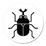 Beetle Round Car Magnet
