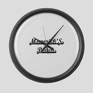 Maverick'S Beach Classic Retro De Large Wall Clock