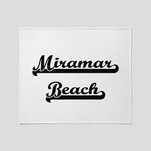 Miramar Beach Classic Retro Design Throw Blanket