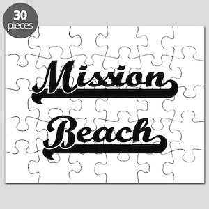 Mission Beach Classic Retro Design Puzzle