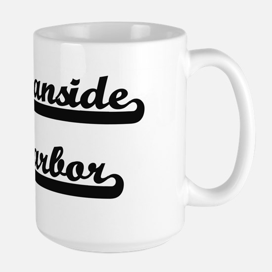 Oceanside Harbor Classic Retro Design Mugs