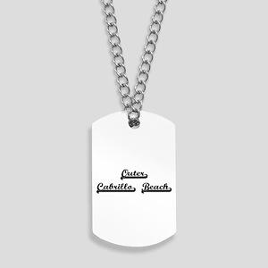 Outer Cabrillo Beach Classic Retro Design Dog Tags