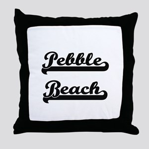 Pebble Beach Classic Retro Design Throw Pillow