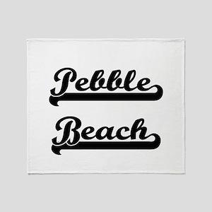 Pebble Beach Classic Retro Design Throw Blanket