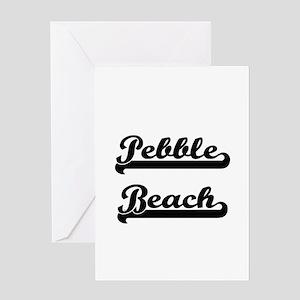 Pebble Beach Classic Retro Design Greeting Cards