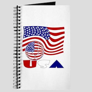 USA Flag and Soccer Ball Journal