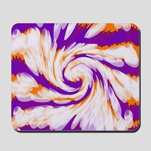 Purple Orange Bright Tie Dye Swirl Mousepad