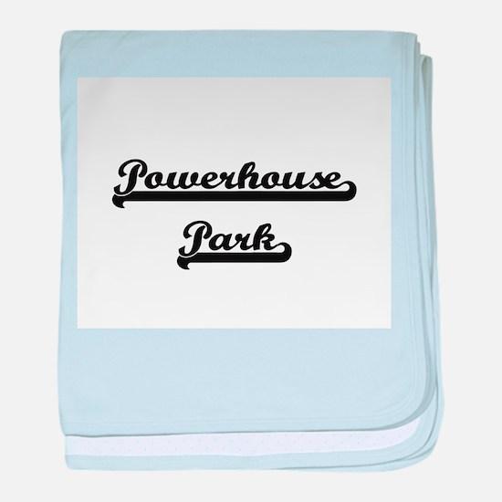 Powerhouse Park Classic Retro Design baby blanket