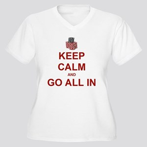 Keep Calm and Go  Women's Plus Size V-Neck T-Shirt