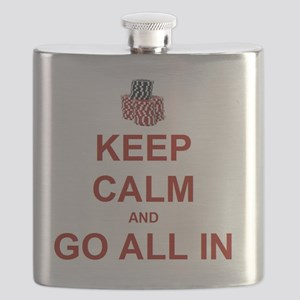 Keep Calm and Go All In-Red Flask