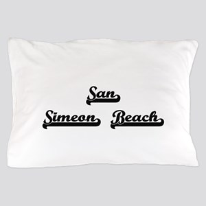 San Simeon Beach Classic Retro Design Pillow Case