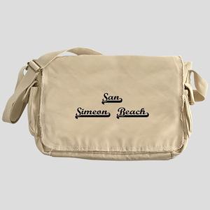 San Simeon Beach Classic Retro Desig Messenger Bag