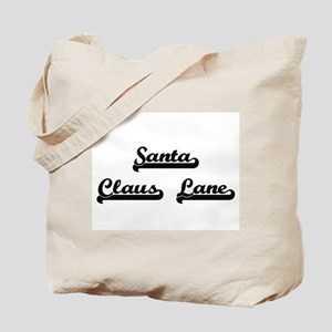 Santa Claus Lane Classic Retro Design Tote Bag