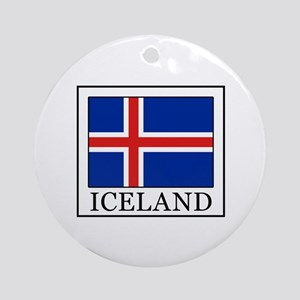 Iceland Round Ornament