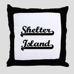 Shelter Island Classic Retro Design Throw Pillow