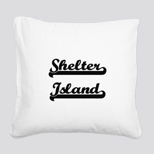 Shelter Island Classic Retro Square Canvas Pillow