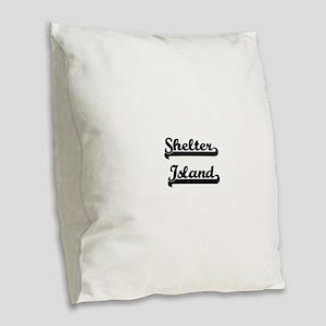 Shelter Island Classic Retro D Burlap Throw Pillow