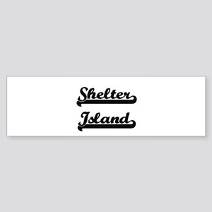 Shelter Island Classic Retro Design Bumper Sticker