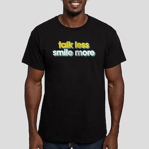 Talk Less Smile More Men's Fitted T-Shirt (dark)