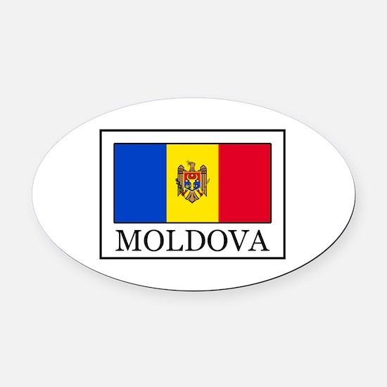 Moldova Oval Car Magnet