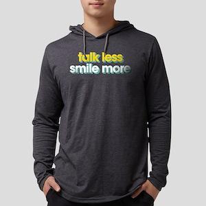 Talk Less Smile More Mens Hooded Shirt